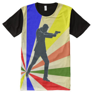 Spy - Special Agent Retro Style All-Over Print T-Shirt