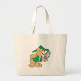 Spying Detective Bear Jumbo Tote Bag