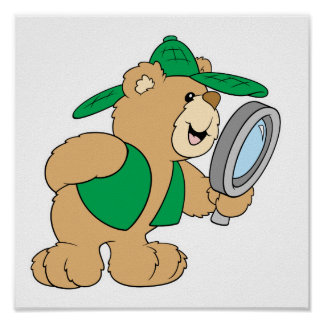 Spying Detective Bear Poster