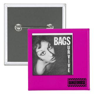 Sq. Button Bags Survive Dangerhouse