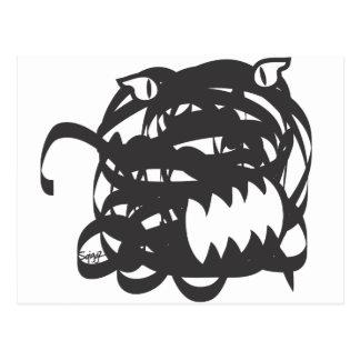 Sqiggz - Poo Monster Postcard
