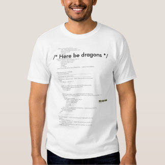 SQL Here be dragons T Shirt