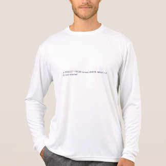 SQL No Defeated Runners Found T-Shirt