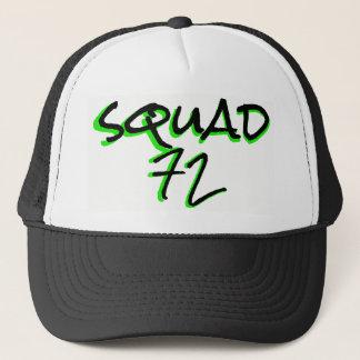 Squad72 72marketing trucker hat neon green black