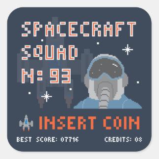 Squad 93 Pixel Insert Coin Sticker