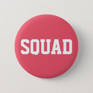 Squad Coral Pink & White 6 Cm Round Badge