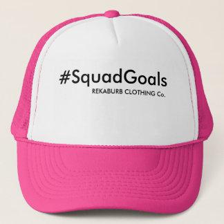 SQUAD GOALS HASHTAG TRUCKER HAT