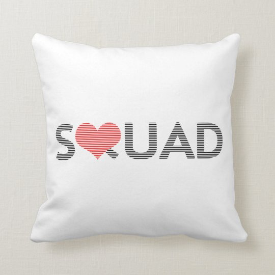 Squad - love - heart. cushion