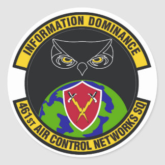 Squadron Patch Round Sticker