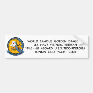 Squadron Patch, WORLD  FAMOUS  GOLDEN  DRAGONSU... Bumper Sticker