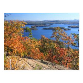 Squam Lake Rattlesnake Cliffs in Autumn Postcard