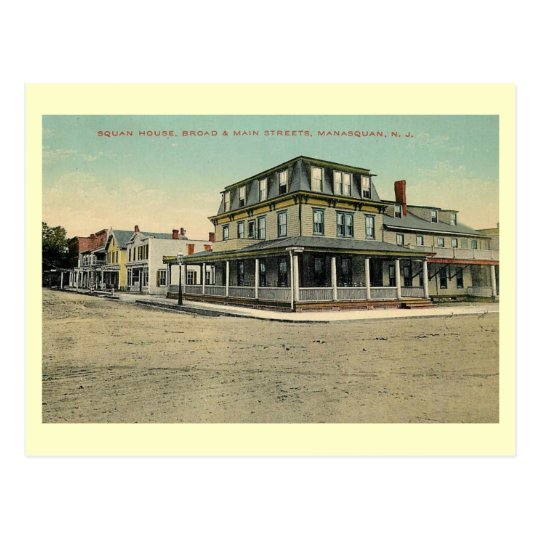 Squan House, Manasquan, New Jersey 1912 Vintage Postcard