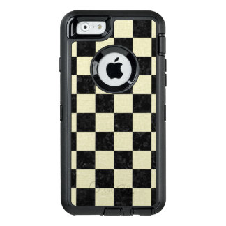 SQUARE1 BLACK MARBLE & BEIGE LINEN OtterBox DEFENDER iPhone CASE