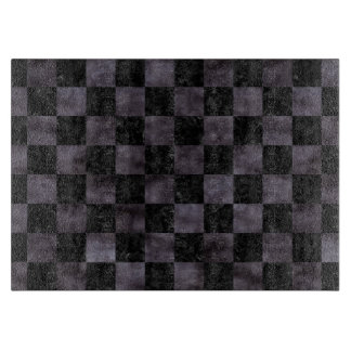 SQUARE1 BLACK MARBLE & BLACK WATERCOLOR CUTTING BOARD