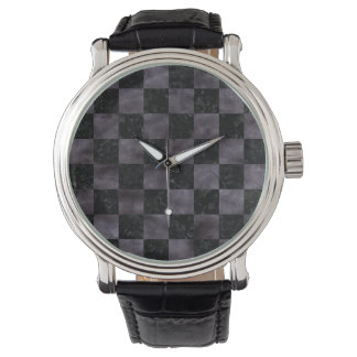 SQUARE1 BLACK MARBLE & BLACK WATERCOLOR WATCH