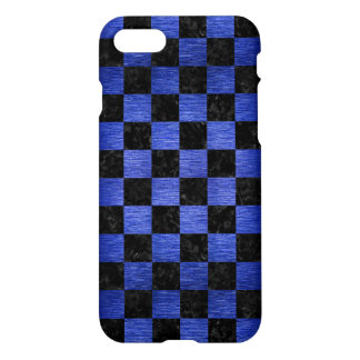 SQUARE1 BLACK MARBLE & BLUE BRUSHED METAL iPhone 8/7 CASE