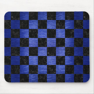 SQUARE1 BLACK MARBLE & BLUE BRUSHED METAL MOUSE PAD