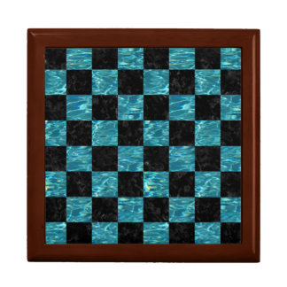 SQUARE1 BLACK MARBLE & BLUE-GREEN WATER GIFT BOX