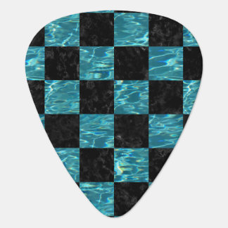 SQUARE1 BLACK MARBLE & BLUE-GREEN WATER PLECTRUM