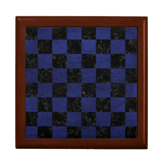 SQUARE1 BLACK MARBLE & BLUE LEATHER GIFT BOX