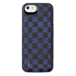 SQUARE1 BLACK MARBLE & BLUE LEATHER iPhone SE/5/5s BATTERY CASE