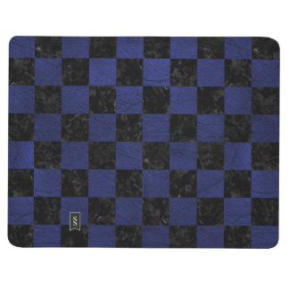 SQUARE1 BLACK MARBLE & BLUE LEATHER JOURNAL