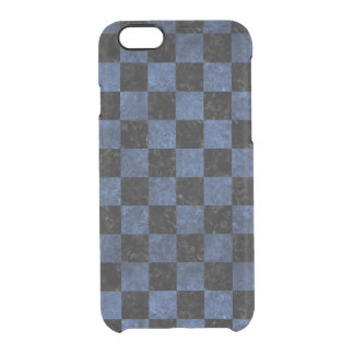 SQUARE1 BLACK MARBLE & BLUE STONE CLEAR iPhone 6/6S CASE