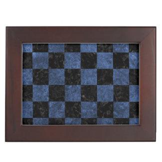 SQUARE1 BLACK MARBLE & BLUE STONE KEEPSAKE BOX