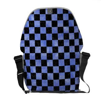 SQUARE1 BLACK MARBLE & BLUE WATERCOLOR MESSENGER BAG
