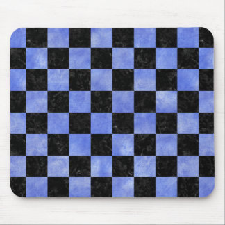 SQUARE1 BLACK MARBLE & BLUE WATERCOLOR MOUSE PAD