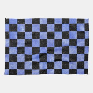 SQUARE1 BLACK MARBLE & BLUE WATERCOLOR TEA TOWEL