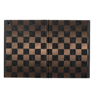 SQUARE1 BLACK MARBLE & BRONZE METAL iPad AIR COVER