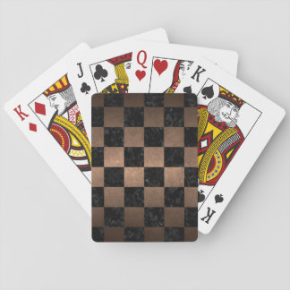SQUARE1 BLACK MARBLE & BRONZE METAL PLAYING CARDS