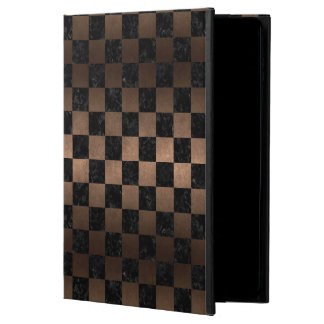 SQUARE1 BLACK MARBLE & BRONZE METAL POWIS iPad AIR 2 CASE