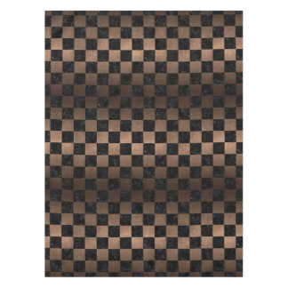 SQUARE1 BLACK MARBLE & BRONZE METAL TABLECLOTH