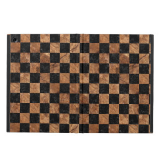 SQUARE1 BLACK MARBLE & BROWN STONE iPad AIR CASE