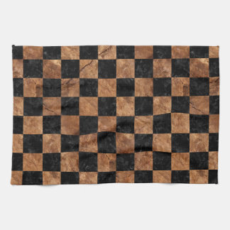 SQUARE1 BLACK MARBLE & BROWN STONE TEA TOWEL