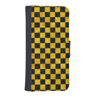 SQUARE1 BLACK MARBLE & YELLOW MARBLE iPhone SE/5/5s WALLET CASE