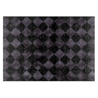SQUARE2 BLACK MARBLE & BLACK WATERCOLOR CUTTING BOARD