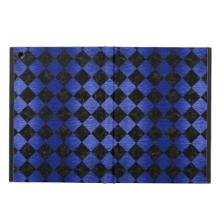 SQUARE2 BLACK MARBLE & BLUE BRUSHED METAL iPad AIR COVER