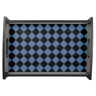 SQUARE2 BLACK MARBLE & BLUE DENIM SERVING TRAY