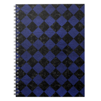 SQUARE2 BLACK MARBLE & BLUE LEATHER NOTEBOOK
