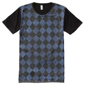 SQUARE2 BLACK MARBLE & BLUE STONE All-Over PRINT T-Shirt