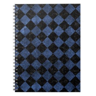 SQUARE2 BLACK MARBLE & BLUE STONE NOTEBOOK