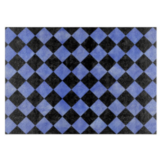 SQUARE2 BLACK MARBLE & BLUE WATERCOLOR CUTTING BOARD