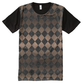 SQUARE2 BLACK MARBLE & BRONZE METAL All-Over PRINT T-Shirt