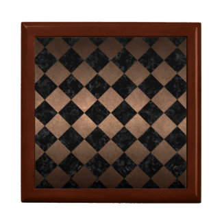 SQUARE2 BLACK MARBLE & BRONZE METAL GIFT BOX