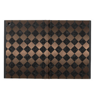SQUARE2 BLACK MARBLE & BRONZE METAL iPad AIR COVER