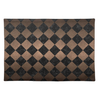 SQUARE2 BLACK MARBLE & BRONZE METAL PLACEMAT