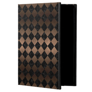 SQUARE2 BLACK MARBLE & BRONZE METAL POWIS iPad AIR 2 CASE